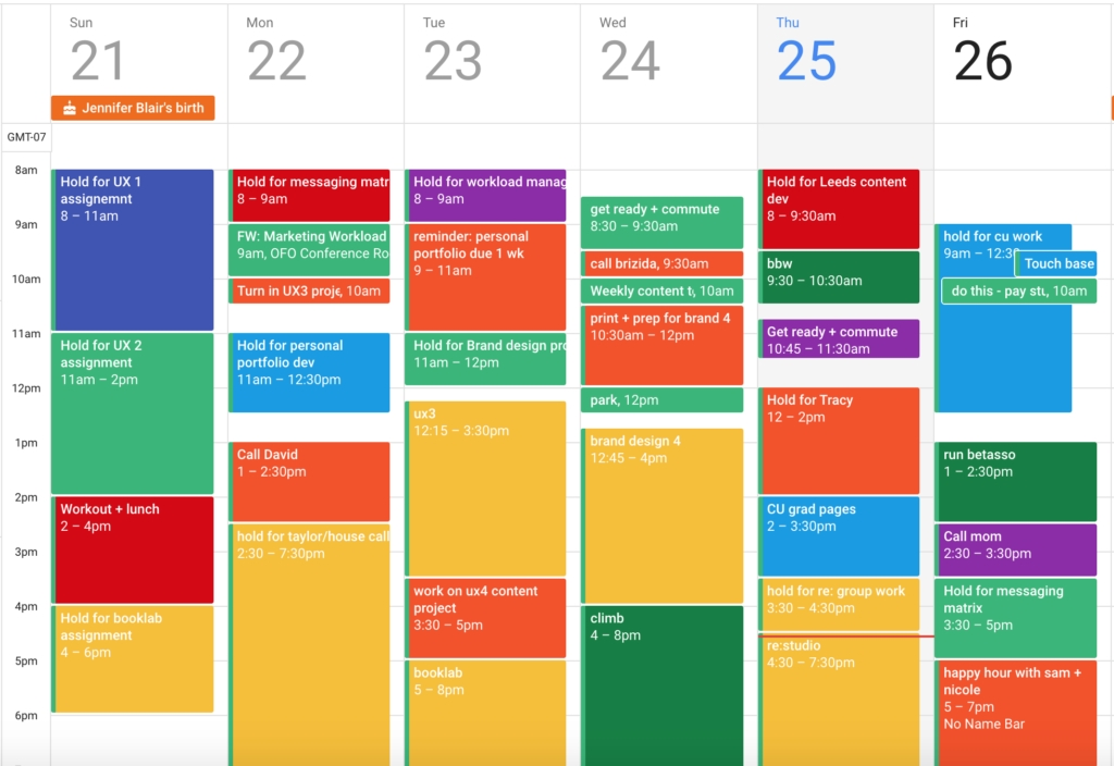 Color Code Your Calendar, Already |Dan Silvestre | Forge for Free Color Code Calendar Month View