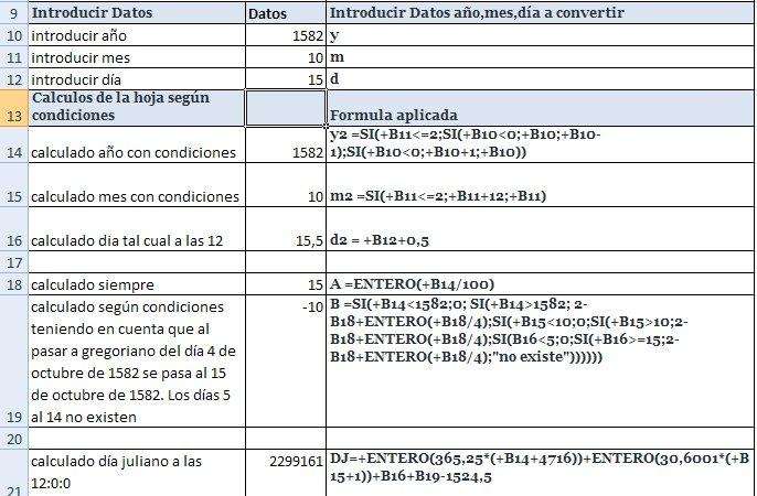 Conversión De Fecha A Día Juliano | Agrupación Astronómica in Dias Julianos Graphics
