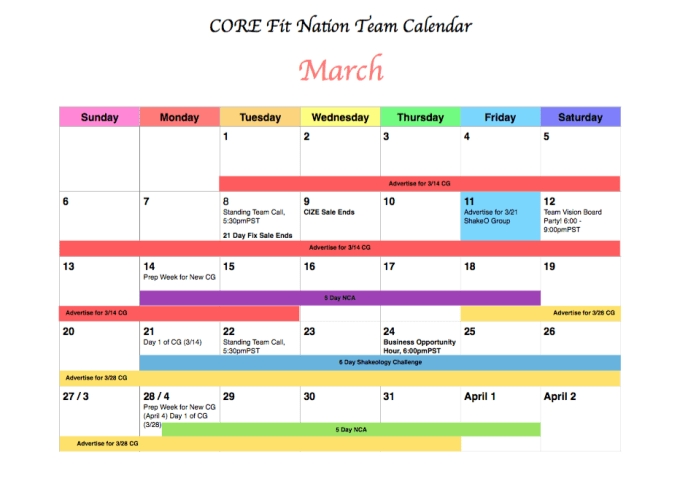 Create A Color Coded Weekly Or Monthly Calendar Schedule inside Monthly Color Coded Schedule Photo