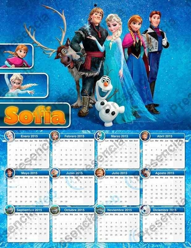 Creative Character Monthly Frozen Printable 2015 Calendar within Calendar Print Out Frozen Image