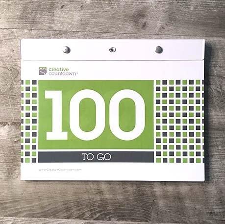Creative Countdown | Creative Countdown | 100 Day Countdown in Tear Off Countdown Calendar Image