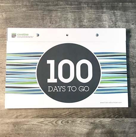 Creative Countdown | Tear Off Countdown Calendar 100-Days within Tear Off Countdown Calendar