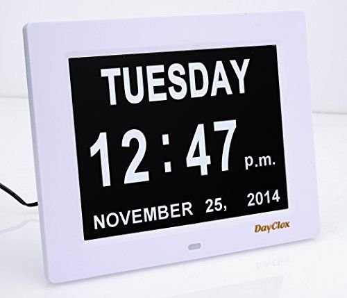 Dementia Digital Calendar Day Clock / With Non-Abbreviated regarding Alzheimer'S Calendar Clock Graphics