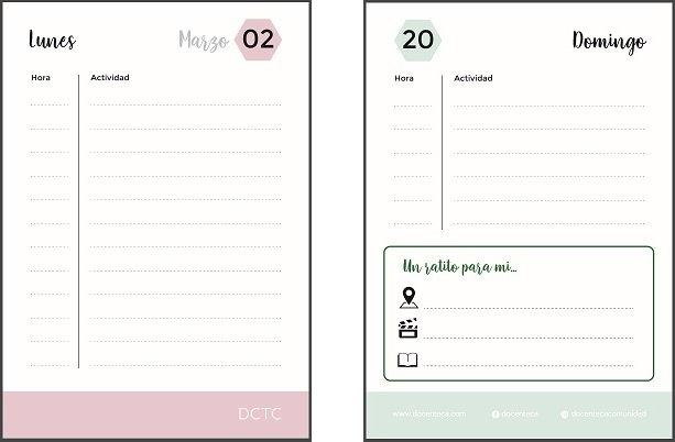 Docenteca - Agenda Docente 2020 Para Descargar E Imprimir for Descargar Agenda Gratis