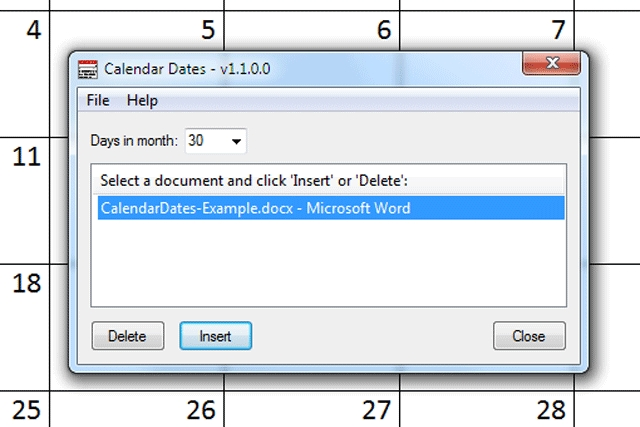 Download: Calendar Dates - Open Source - Tng Consulting Inc pertaining to Wordperfect Calender