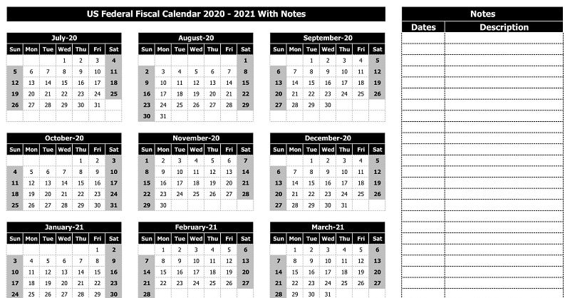 Download Free Fiscal Calendar Templates In Excel intended for Free Printable Fiscal Calendars