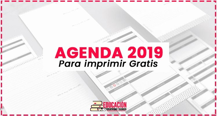 ▷ Agenda 2019 Para Imprimir En Pdf【Descargar Gratis for Descargar Agenda Gratis Photo