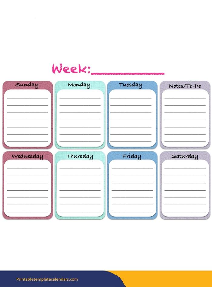 ❤️Free Printable Weekly Calendar 2019- 2020 Template [Pdf pertaining to 2020 Calendar Format Monday Through Friday Week Image