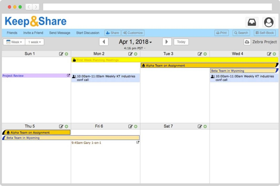 Easy-To-Use Free Online Calendar | Keepandshare in Free Color Code Calendar Month View Photo