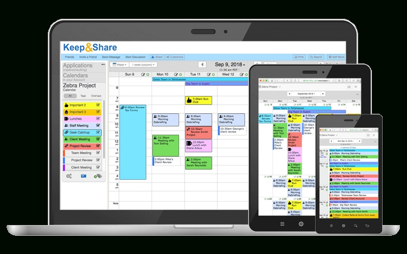 Easy-To-Use Free Online Calendar | Keepandshare intended for Free Color Code Calendar Month View