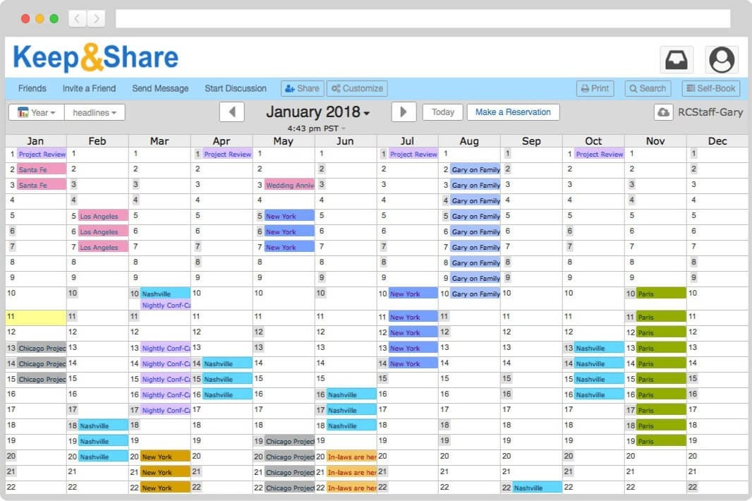 Easy-To-Use Free Online Calendar | Keepandshare regarding Monthly Color Coded Schedule