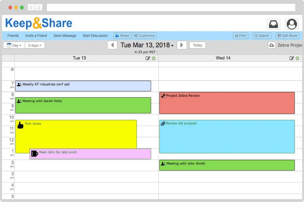 Easy-To-Use Free Online Calendar | Keepandshare with Free Color Code Calendar Month View Photo