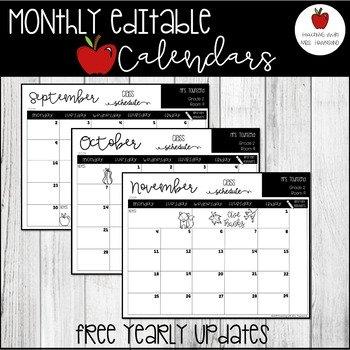 Editable March 2019 Calendar Worksheets & Teaching Resources with Free Preschool Calendar Sarah Kirby