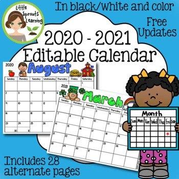 Editable March Calendar Worksheets & Teaching Resources   Tpt intended for Free Preschool Calendar Sarah Kirby