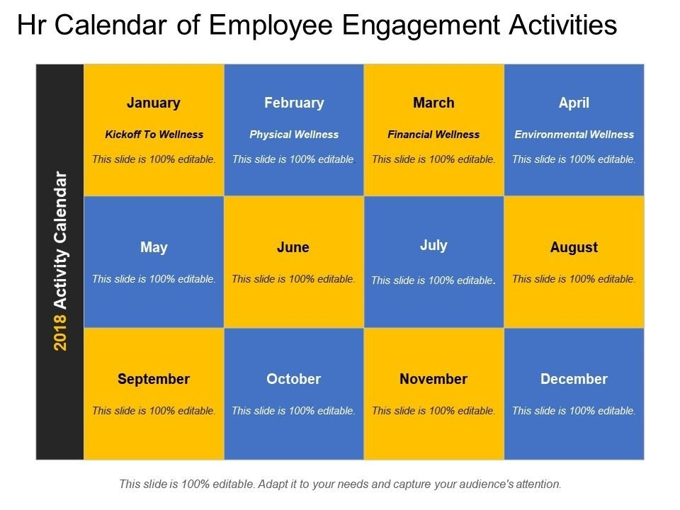 Employee Engagement Activities Calendar in Human Resource Calendar Template Photo