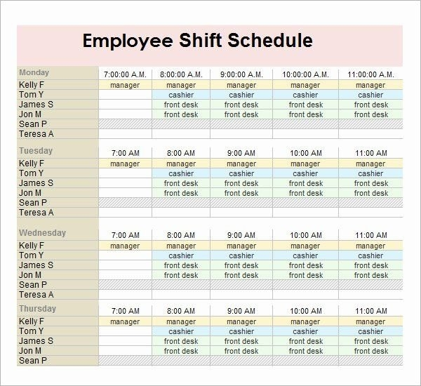 Employee Monthly Schedule Template Elegant Monthly Employee within Free Monthly Shift Scheduling Calendars