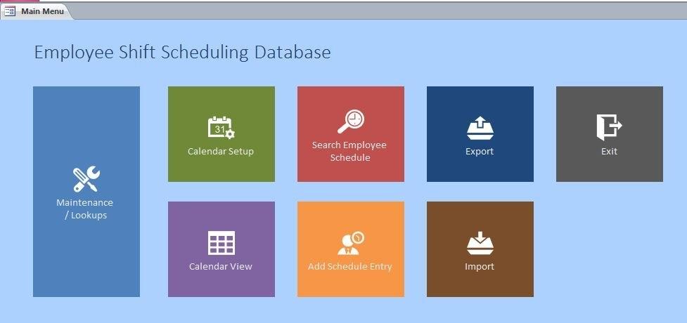 Employee Scheduling Database Template | Employee Scheduling inside Scheduling Ms Access Databaase