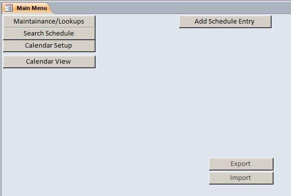 Employee Scheduling Database Template | Employee Scheduling intended for Scheduling Ms Access Databaase