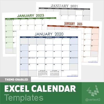 Excel Calendar Template For 2021 And Beyond regarding Microsoft Calendar Template 2020 Image