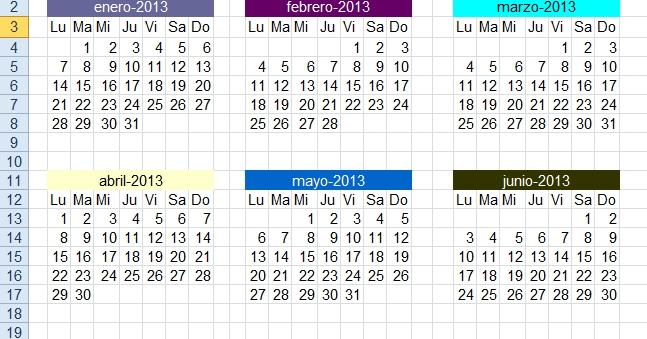 Excel Foro: Ejercicios, Ejemplos, Soluciones, Dudas: Obtener for Numero De Semanas En El Calendario