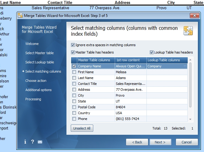 Excel Merge Tables Wizard - Update A Sheet With Data Stored in Helen Bradley Calendar Wizard