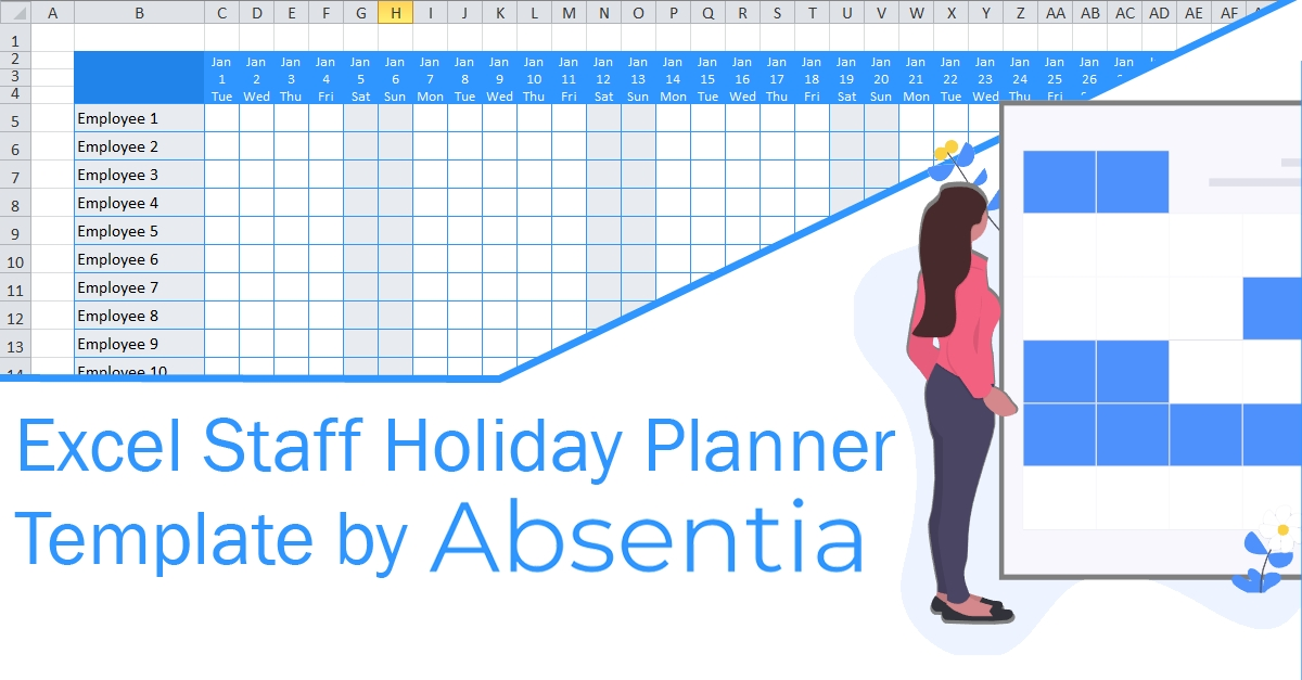 Excel Staff Holiday Planner (The Ultimate Free Template) with Printable Blank 3 Year Sick Leave Roster
