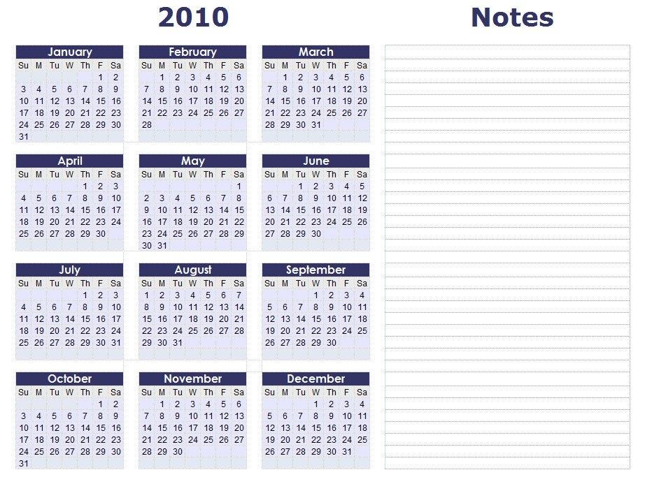 Fdfspofu: Blank Monthly Calendar 2010 for 11 X 17 Lank Calendar