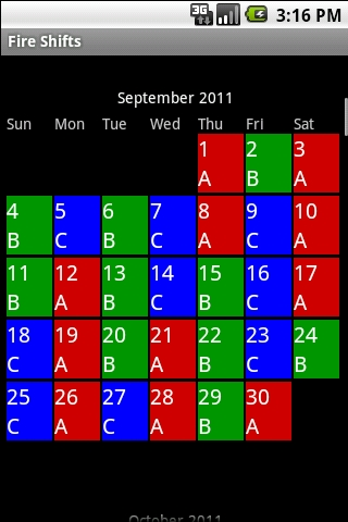 Fire Shifts | Fire Fighter And Ems Calendars For Android & Ios throughout 24-72 Firefighter Schedule