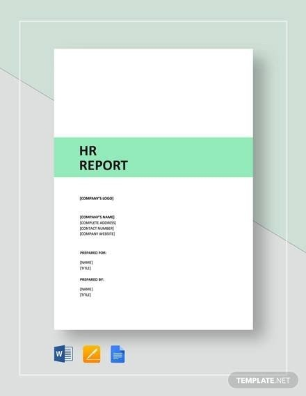 Free 15+ Sample Hr Report Templates In Ms Word | Pdf |Apple pertaining to Human Resource Monthly Template Graphics