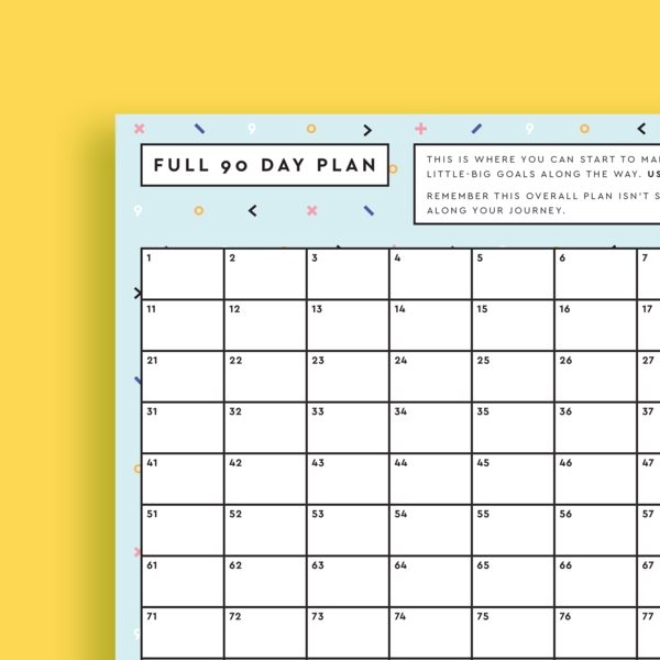 Free 90 Day Calendar - Reach Your Goal In 90 Days! Get It throughout 90 Day Blank Calendar Template Image