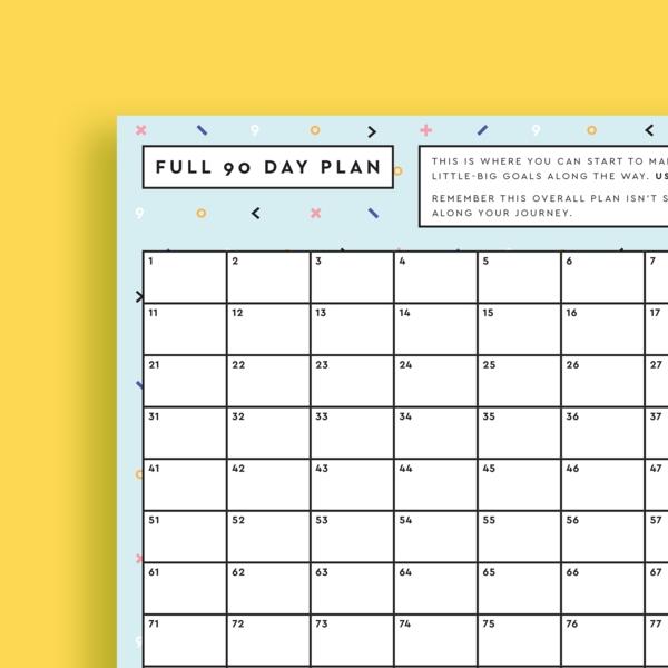 Free 90 Day Calendar - Reach Your Goal In 90 Days! Get It within 90 Day Claendar