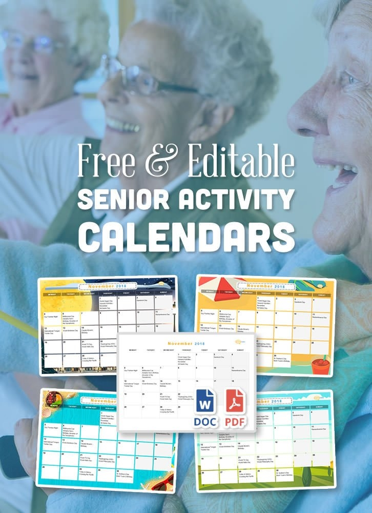 Free Activity Calendar For Seniors in Calendars For Dementia Patients