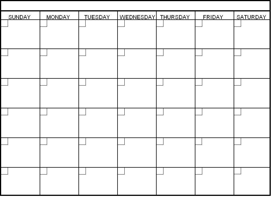 Free Blank Calendar Template – Printable Year Calendar with regard to Empty Calendar Grid 8.5 X 11