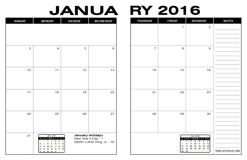 Free Calendars To Print | Pdf Calendars in Blank Calendar - 8 1/2 X 11 To Print