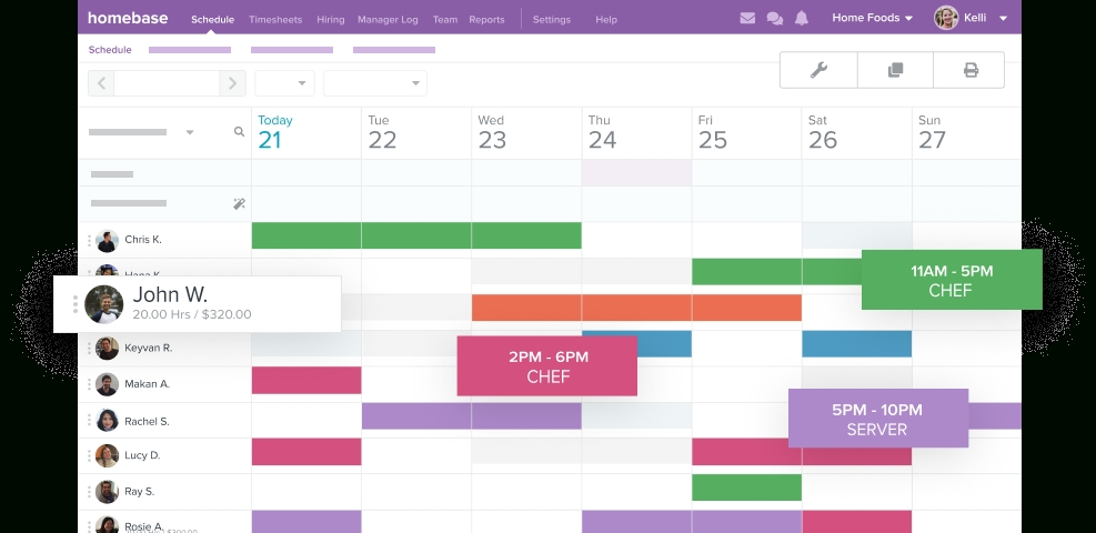 Free Employee Scheduling Software For Your Business | Homebase inside Free Monthly Shift Scheduling Calendars