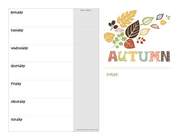 Free Fall Printable Weekly Calendar Download - Five Spot pertaining to Monday To Friday Calendar To Print Out Fall