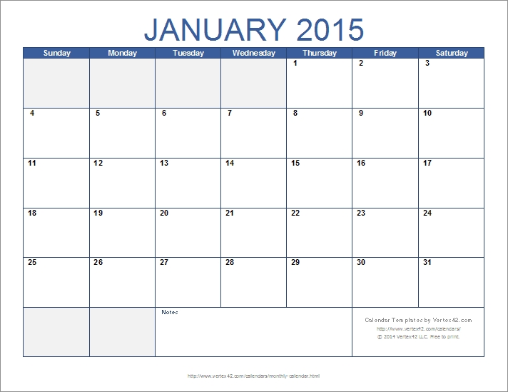 Free Monthly Calendar Template For Excel throughout 28 Day Calendar Template Photo