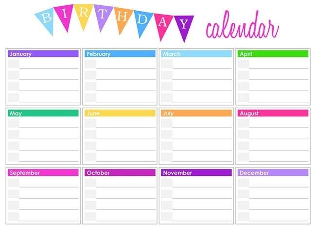 Free & Premium Templates   Birthday Calendar, Free Printable inside Free Birthday Calendar Printable Word Photo