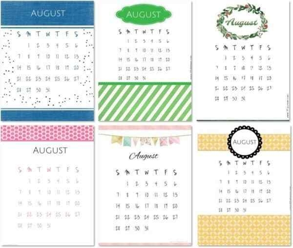 Free Printable August 2021 Calendar in August Calendar Printable With Border Photo