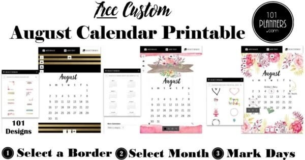 Free Printable August 2021 Calendar within August Calendar Printable With Border Photo