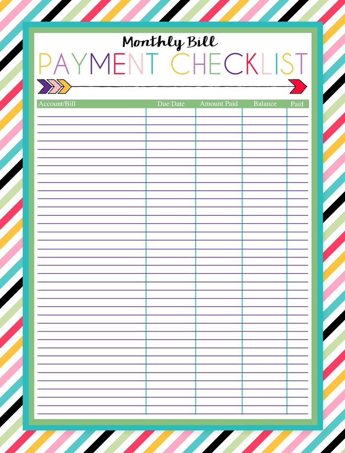 Free Printable Bill Pay Calendar Templates inside Printable Due Date Calendar Free