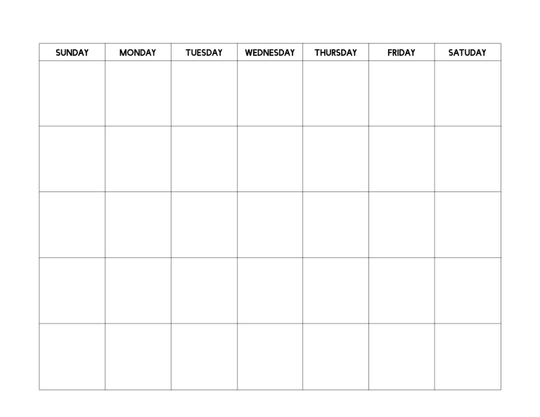 Free Printable Blank Calendar Template | Paper Trail Design with Single Day Calendar Blank Template Graphics