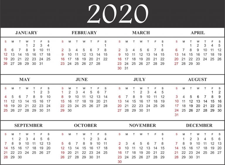 Free Printable Calendar 2020 | Printable Calendar Design throughout Fun Free Printable Shorttime Calendars