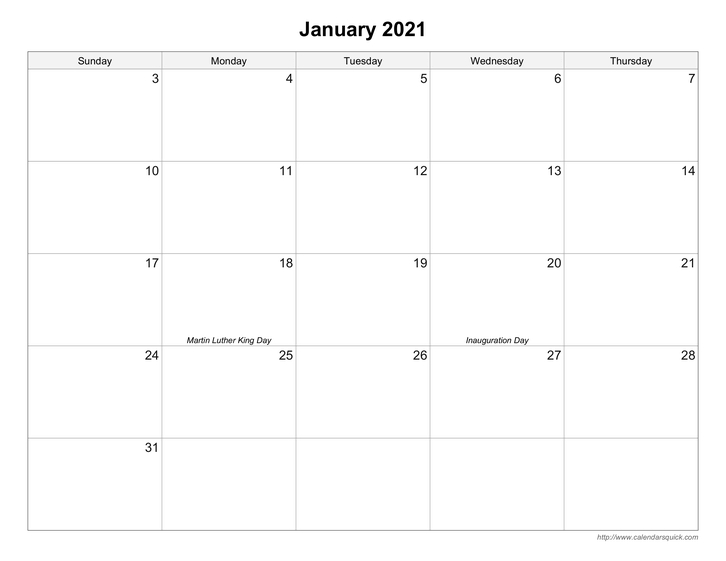 Free Printable Calendars - Calendarsquick with regard to Large Block Printable Monthly Calendar Free