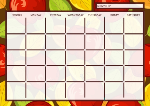Free Printable Monthly Calendar For The Fall Season pertaining to Monday To Friday Calendar To Print Out Fall