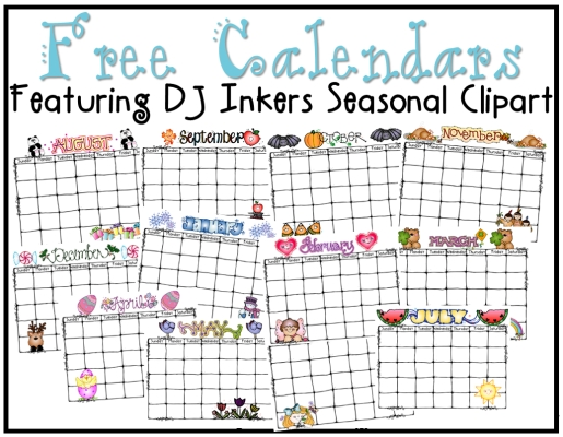 Freebies To Keep You Organized All Year Long! (Just Reed for Editable Monthly Calendars Teachr At Heart
