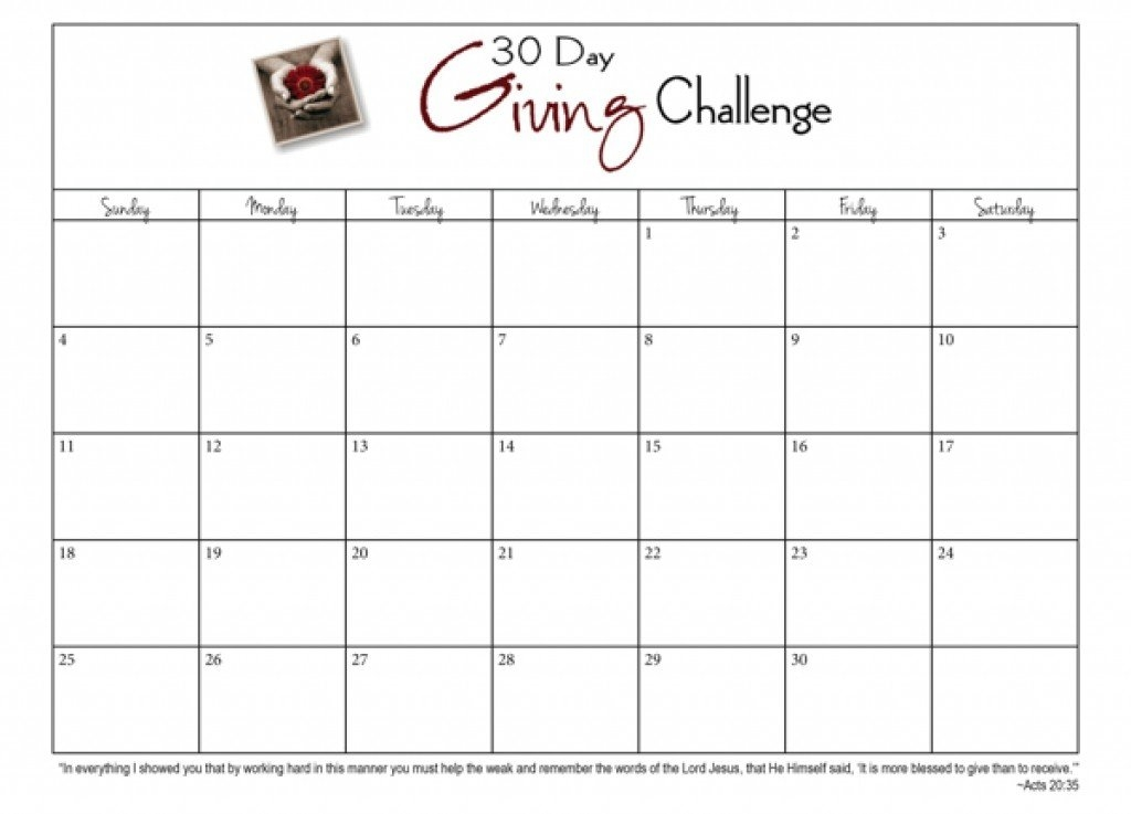 Fresh 30 Day Challenge Printable Calendar | Free Printable inside 30 Day Ab And Squat Printable Calendar