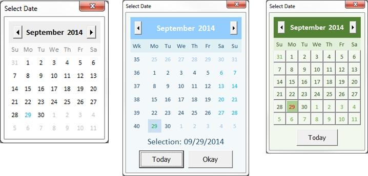 Fully Customizable Vba Date Picker | Chandoo Excel in Vba Userform Calendar
