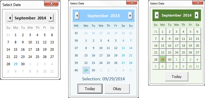 Fully Customizable Vba Date Picker | Chandoo Excel inside Excel User Form Calendar Photo