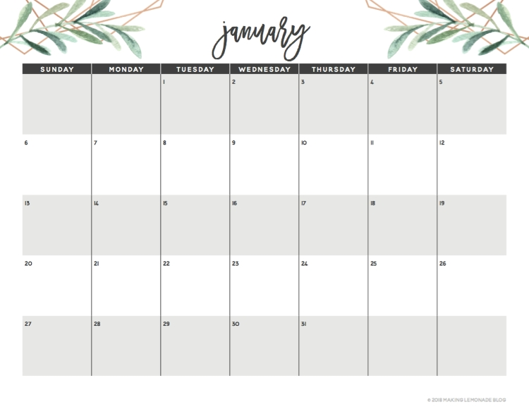 Get Organized With Our Free Printable 2019 Planner! | Making in Printable Monthly Planner With Lines